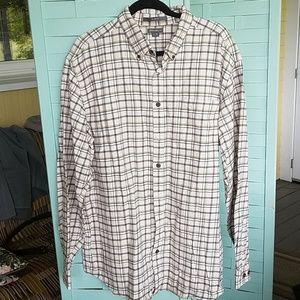 TWO (2) Eddie Bauer Flannel Shirts Men XL Tall EUC